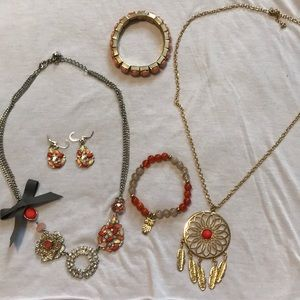 Coral Jewelry Lot